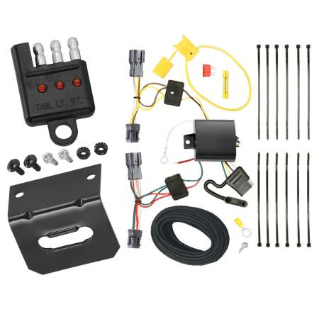 Trailer Wiring and Bracket and Light Tester For 10-18 Hyundai Tucson All Styles 4-Flat Harness Plug Play