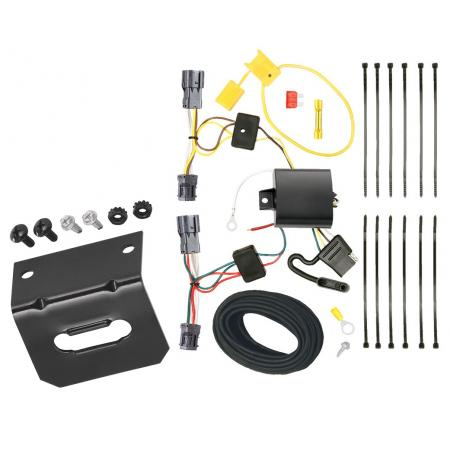 Trailer Wiring and Bracket For 10-18 Hyundai Tucson All Styles 4-Flat Harness Plug Play