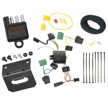 Trailer Wiring and Bracket and Light Tester For 06-11 Mercury Milan 07-09 Lincoln MKZ 2006 Zephyr 4-Flat Harness Plug Play
