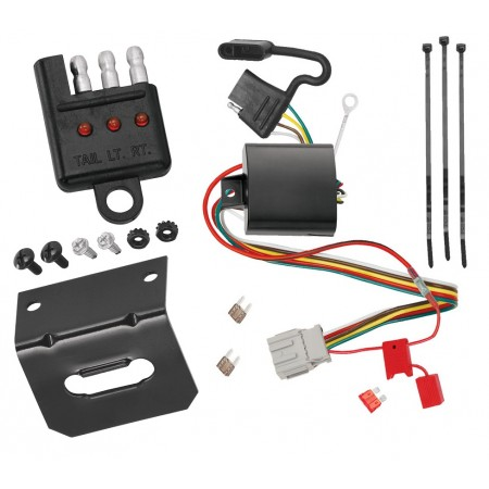 Trailer Wiring and Bracket and Light Tester For 10-13 Acura ZDX All Styles 4-Flat Harness Plug Play