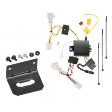 Trailer Wiring and Bracket For 04-11 Toyota Prius All Styles 12-15 Prius Plug-In 4-Flat Harness Plug Play