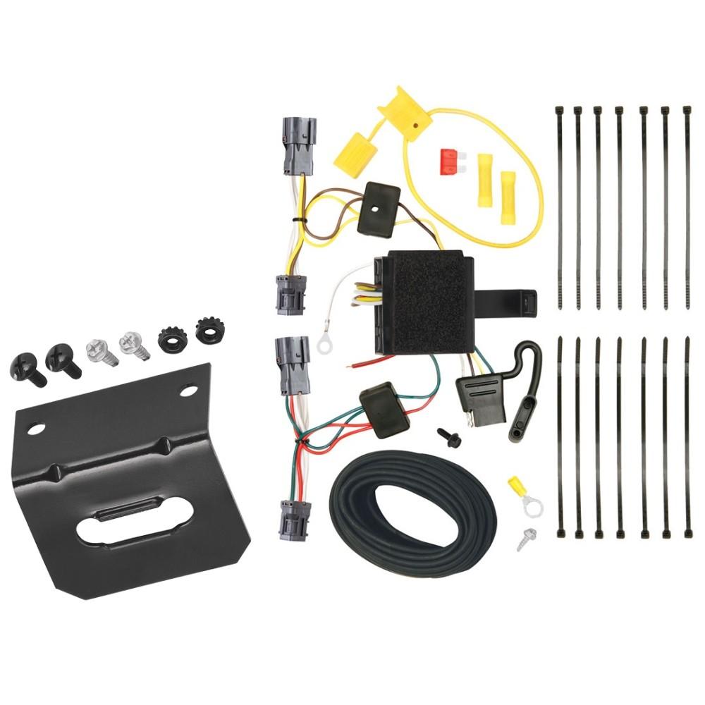 Trailer Wiring and Bracket For 11-13 KIA Sorento Base I4, EX I4, EX V6, LX  I4, LX V6 4-Flat Harness Plug PlayTrailerJacks.com