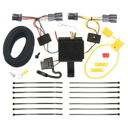 Trailer Wiring Harness Kit For 11-13 KIA Sorento Base I4, EX I4, EX V6, LX I4, LX V6