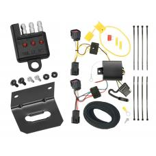 Trailer Wiring and Bracket and Light Tester For 11-15 Chevy Cruze All Styles (2016 Limited Old Body Style) 4-Flat Harness Plug Play