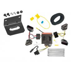 Trailer Wiring and Bracket For 04-10 VW Volkswagen Touareg All Styles 4-Flat Harness Plug Play