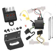 Trailer Wiring and Bracket and Light Tester For 10-12 Lexus HS250h Hybrid 4-Flat Harness Plug Play