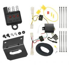Trailer Wiring and Bracket and Light Tester For 10-14 Subaru Legacy Sedan 4-Flat Harness Plug Play