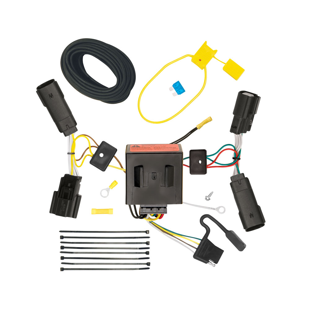 trailer wiring harness kit for 11-14 ford edge all styles  trailer jack