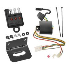 Trailer Wiring and Bracket and Light Tester For 04-11 Mitsubishi Endeavor All Styles 4-Flat Harness Plug Play