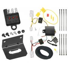 Trailer Wiring and Bracket and Light Tester For 07-11 Toyota Yaris 4 Dr. Sedan 4-Flat Harness Plug Play