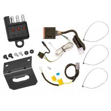 Trailer Wiring and Bracket and Light Tester For 07-13 Mitsubishi Outlander Except Sport 4-Flat Harness Plug Play