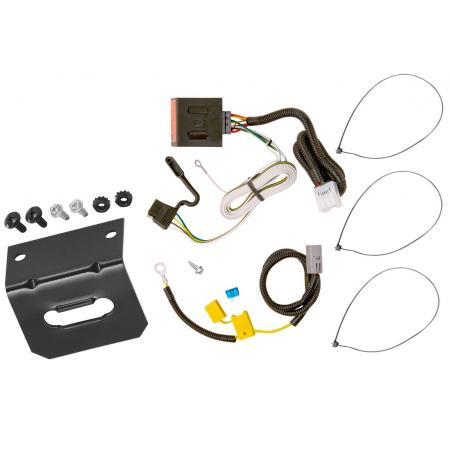 Trailer Wiring and Bracket For 07-13 Mitsubishi Outlander Except Sport 4-Flat Harness Plug Play