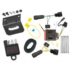 Trailer Wiring and Bracket and Light Tester For 11-15 Lincoln MKX All Styles 4-Flat Harness Plug Play