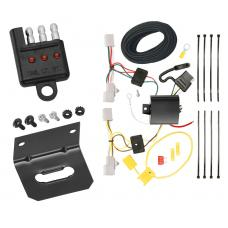 Trailer Wiring and Bracket and Light Tester For 06-17 Mazda 5 11-14 Mazda 2 07-15 Mazda CX-9 4-Flat Harness Plug Play