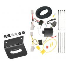 Trailer Wiring and Bracket For 06-17 Mazda 5 11-14 Mazda 2 07-15 Mazda CX-9 4-Flat Harness Plug Play
