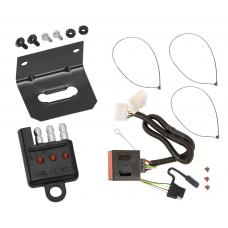 Trailer Wiring and Bracket and Light Tester For 11-17 Honda Odyssey All Styles 4-Flat Harness Plug Play