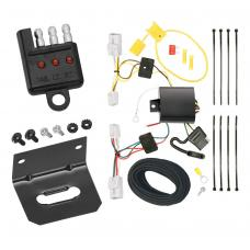 Trailer Wiring and Bracket and Light Tester For 10-12 Hyundai Genesis 2 Dr. Coupe 4-Flat Harness Plug Play