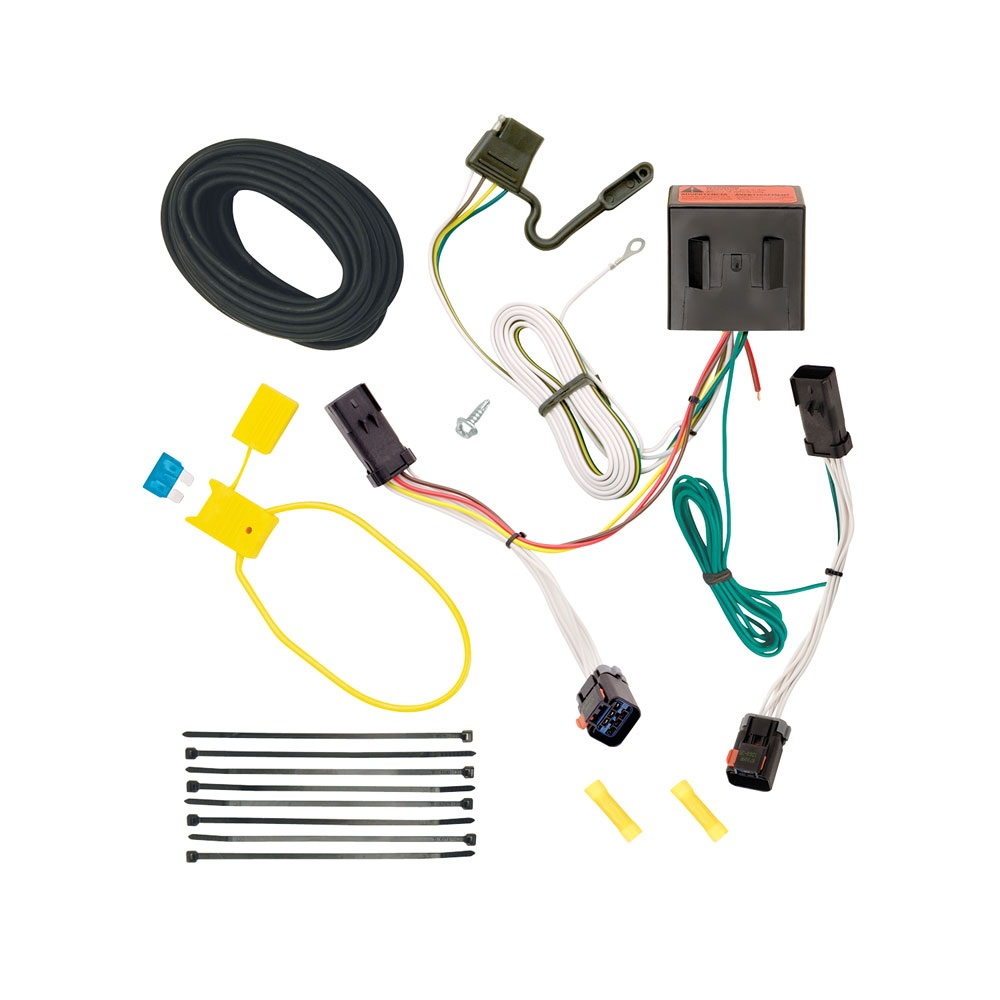 trailer wiring harness kit for 02-07 jeep liberty all styles  trailer jack