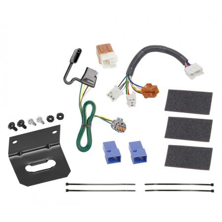 Trailer Wiring and Bracket For 05-20 Nissan Frontier 05-12 Pathfinder 05-15 Xterra 09-12 Equator 4-Flat Harness Plug Play