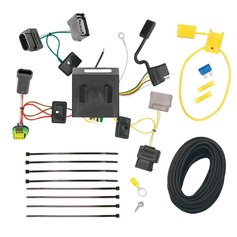 trailer wiring harness kit for 11-20 dodge journey w/led ...  trailer jack