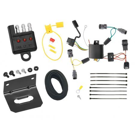 Trailer Wiring and Bracket and Light Tester For 09-14 Acura TL All Styles 4-Flat Harness Plug Play