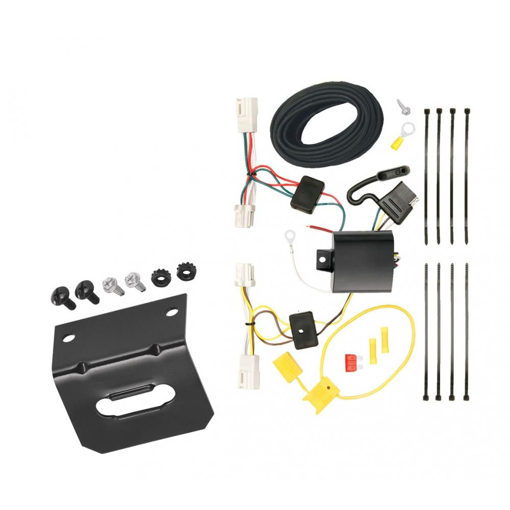 Trailer Wiring and cket For 11-19 Mitsubishi Outlander Sport 11-17 on toyota trailer wiring harness, nissan trailer wiring harness, honda trailer wiring harness, gmc trailer wiring harness, land rover trailer wiring harness, volvo trailer wiring harness, audi trailer wiring harness,