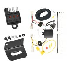 Trailer Wiring and Bracket and Light Tester For 11-19 Mitsubishi Outlander Sport 11-17 RVR 10-17 Lancer 4-Flat Harness Plug Play