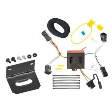 Trailer Wiring and Bracket For 11-17 Jeep Compass (Old Body Style) 4-Flat Harness Plug Play