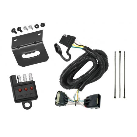 Trailer Wiring and Bracket and Light Tester For 11-19 Ford Explorer All Styles 4-Flat Harness Plug Play