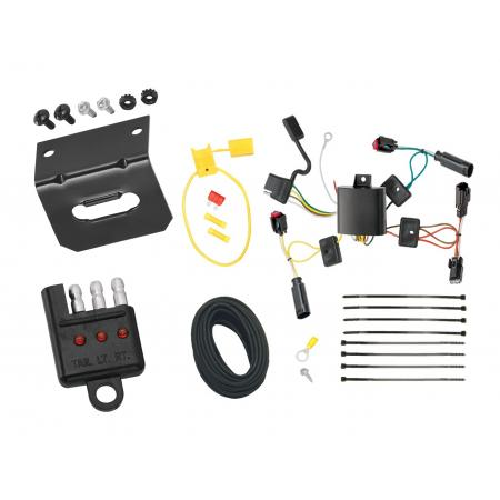 Trailer Wiring and Bracket and Light Tester For 10-12 Lincoln MKZ All Styles 4-Flat Harness Plug Play
