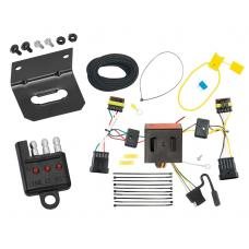 Trailer Wiring and Bracket and Light Tester For 12-18 FIAT 500 All Styles 4-Flat Harness Plug Play
