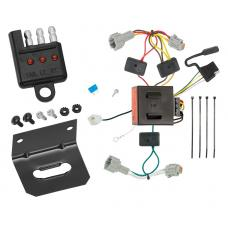 Trailer Wiring and Bracket and Light Tester For 11-17 Nissan Quest All Styles 4-Flat Harness Plug Play