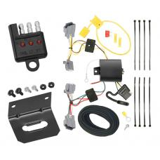 Trailer Wiring and Bracket and Light Tester For 12-18 Ford Focus Sedan 4-Flat Harness Plug Play
