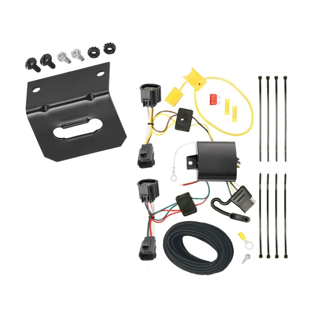 Trailer Wiring and Bracket For 12-14 Ford Focus 5 Dr. Hatchback 4-Flat  Harness Plug PlayTrailerJacks.com