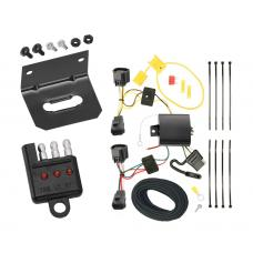 Trailer Wiring and Bracket and Light Tester For 12-14 Ford Focus 5 Dr. Hatchback 4-Flat Harness Plug Play