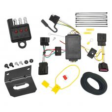 Trailer Wiring and Bracket and Light Tester For 2011 Chrysler 200 Dodge Avenger All Styles 4-Flat Harness Plug Play
