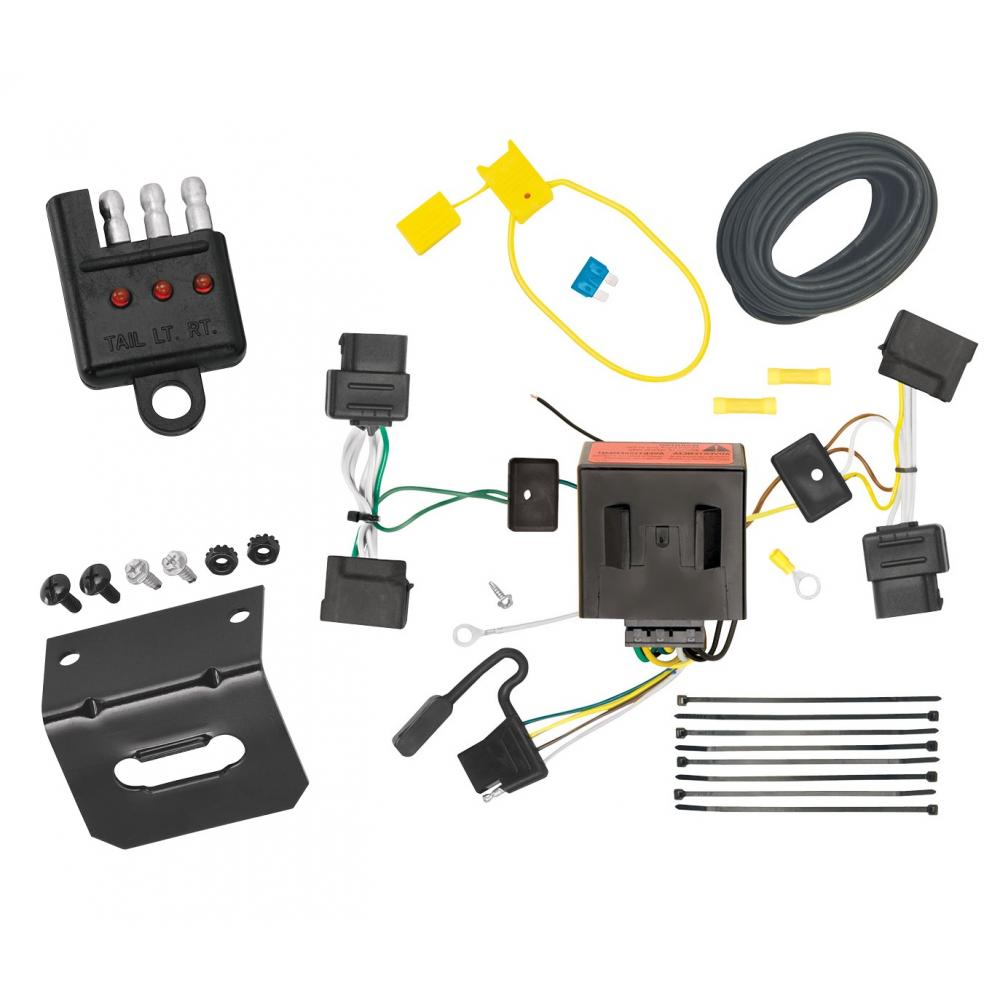 ford e 350 trailer wiring harness trailer wiring and bracket and light tester for 08-14 ford ...