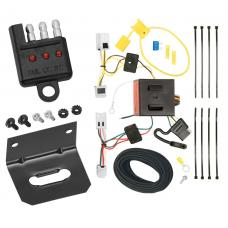 Trailer Wiring and Bracket and Light Tester For 12-19 Nissan NV1500 NV2500 NV3500 All Styles 4-Flat Harness Plug Play