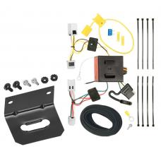 Trailer Wiring and Bracket For 12-19 Nissan NV1500 NV2500 NV3500 All Styles 4-Flat Harness Plug Play