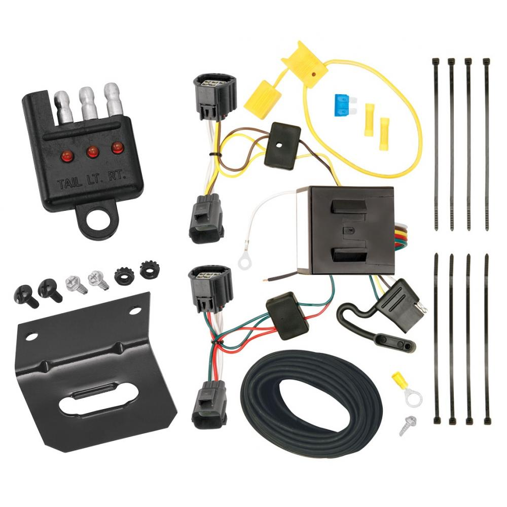 Trailer Wiring And Bracket And Light Tester For 07-11