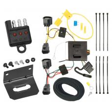 Trailer Wiring and Bracket and Light Tester For 07-11 Dodge Nitro 08-12 Jeep Liberty All Styles 4-Flat Harness Plug Play