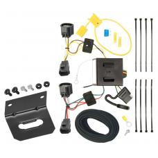 Trailer Wiring and Bracket For 07-11 Dodge Nitro 08-12 Jeep Liberty All Styles 4-Flat Harness Plug Play