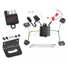 Trailer Wiring and Bracket and Light Tester For 12-15 Chevrolet Camaro 4-Flat Harness Plug Play