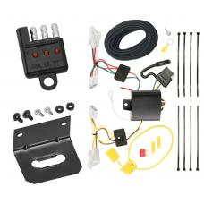 Trailer Wiring and Bracket and Light Tester For 11-14 Hyundai Sonata Except Hybrid 2010 All Styles 4-Flat Harness Plug Play