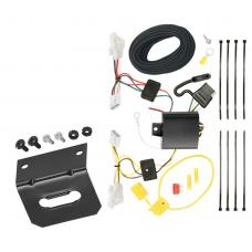 Trailer Wiring and Bracket For 11-14 Hyundai Sonata Except Hybrid 2010 All Styles 4-Flat Harness Plug Play
