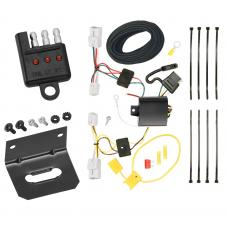 Trailer Wiring and Bracket and Light Tester For 12-17 Hyundai Accent 4 Dr. Sedan 4-Flat Harness Plug Play