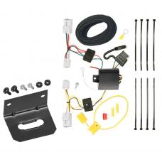 Trailer Wiring and Bracket For 12-17 Hyundai Accent 4 Dr. Sedan 4-Flat Harness Plug Play