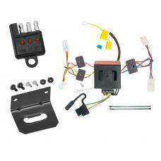 Trailer Wiring and Bracket and Light Tester For 11-14 Dodge Charger All Styles 4-Flat Harness Plug Play