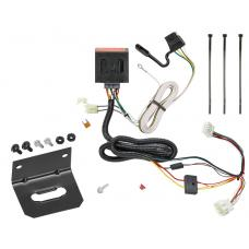 Trailer Wiring and Bracket For 12-16 Honda CR-V All Styles 4-Flat Harness Plug Play