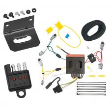Trailer Wiring and Bracket and Light Tester For 13-16 Mazda CX-5 All Styles 4-Flat Harness Plug Play